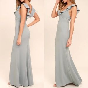 Perfect Opportunity Grey Maxi Dress Lulus